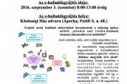 E-hulladék gyűjtés Áporkán SZEPTEMBER 3.